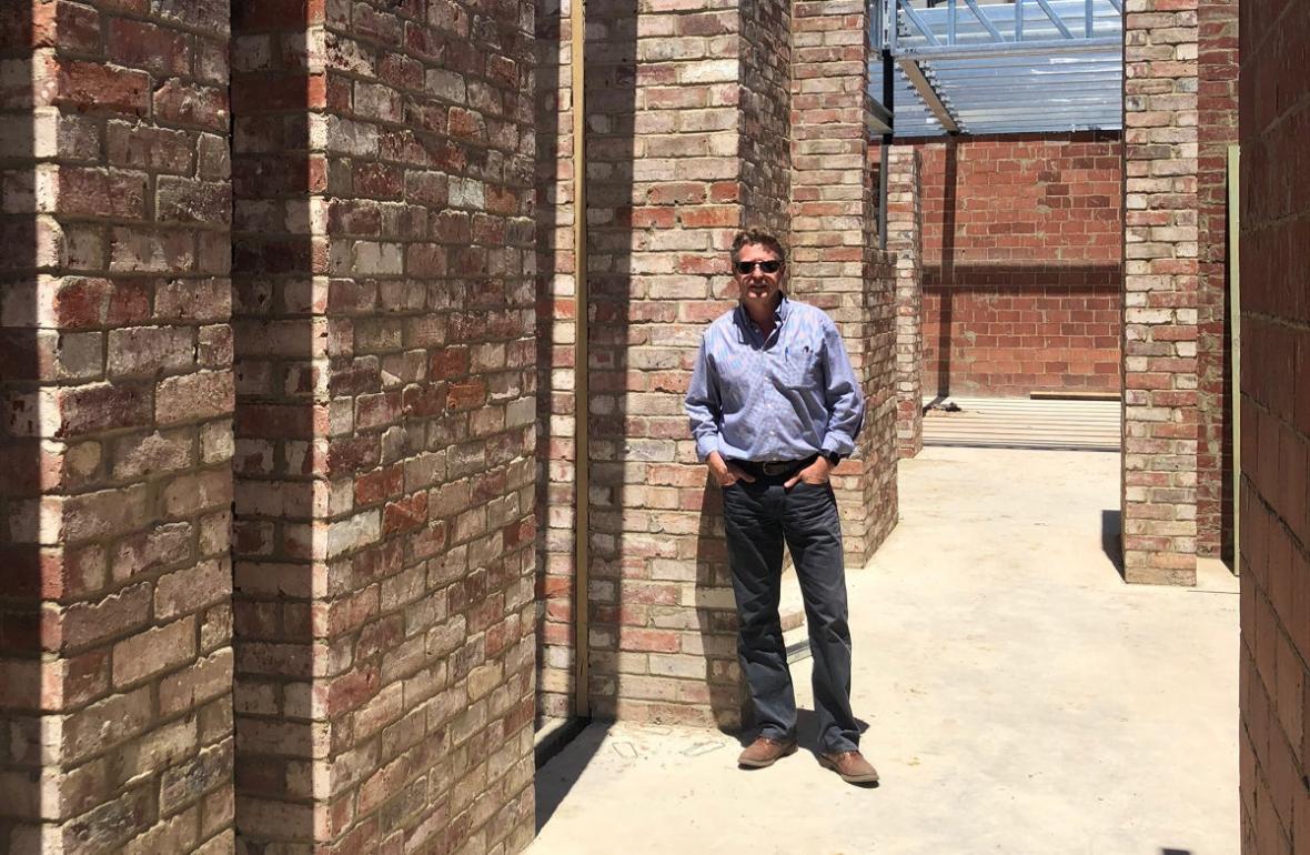 Dean Humphrey Homes architect on site at Mosman Park residnece